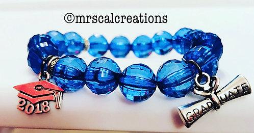 Blue Graduation Bracelet