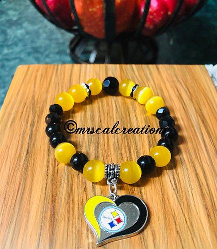 Steelers Inspired Bracelet