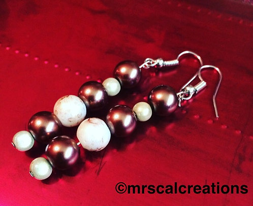Brown/Beige Colored Earrings!