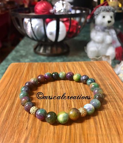 Quartz Ruby Kyanite Bracelet