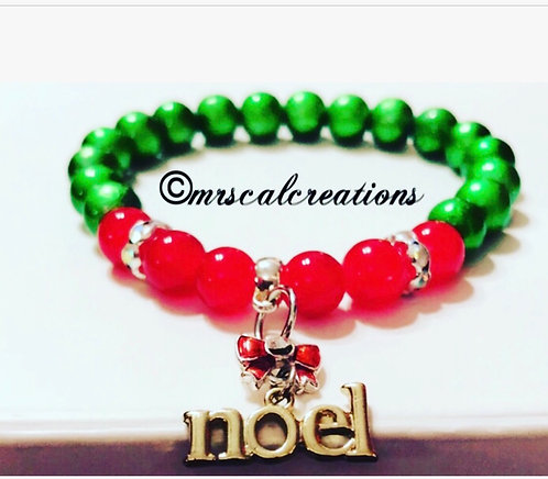 Red And Green Noel Bracelet