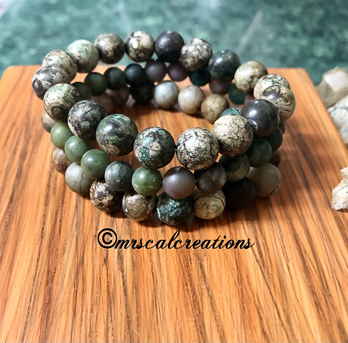 Autumn Green Stack Bracelets!