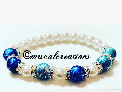 Blue And White Winter Bracelet