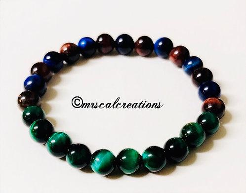 Multicolored Tigereye Bracelet