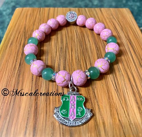Alpha Kappa Alpha Inspired Bracelet