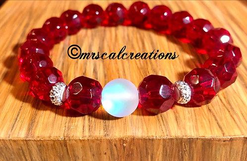 Red Moonstone Bracelet