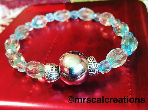Crystal Blue Beaded Bracelet!
