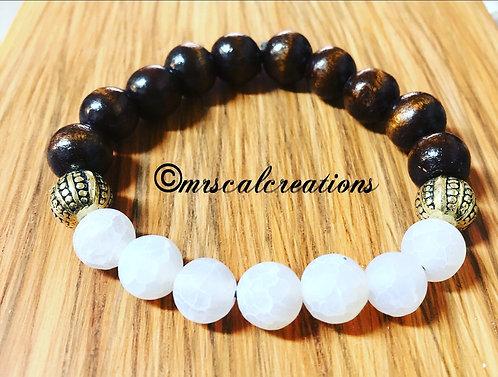 Men's Wooden/WhiteFrost Bracelet
