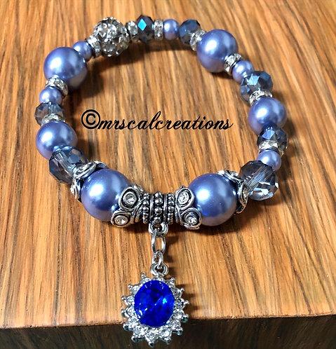 Blue Sapphire Beaded Bracelet