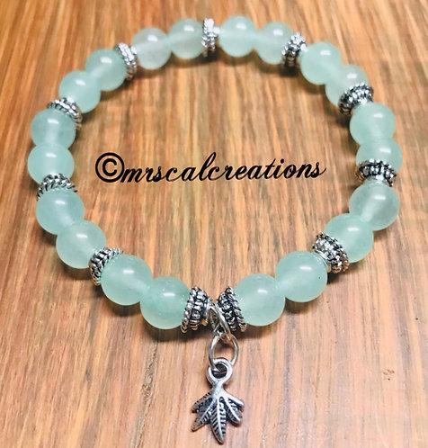 Jade Colored Plant Bracelet