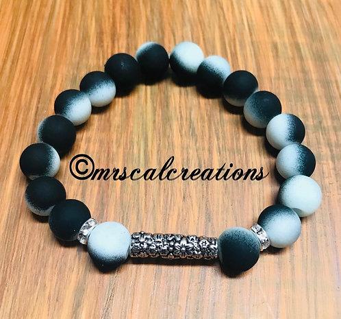 Black And White Moon Bracelet