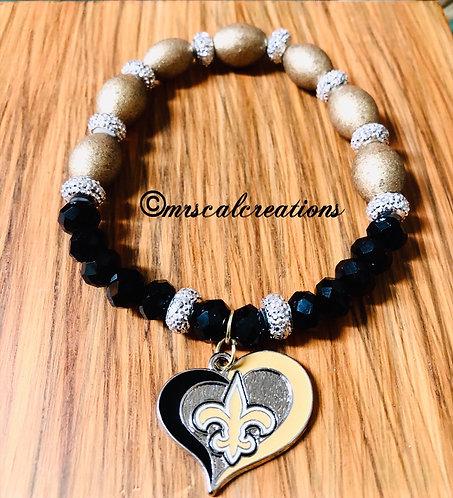 New Orleans Saints Inspired Bracelet