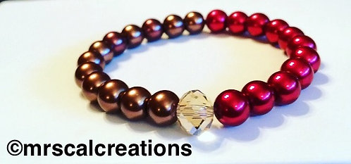 Red and Brown Beaded bracelet!