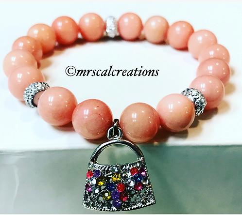Peach Purse Bracelet
