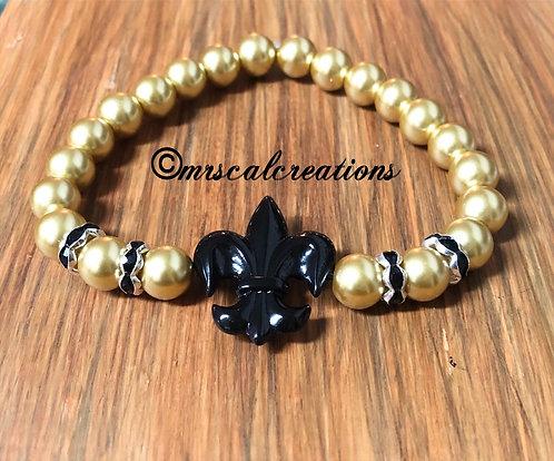 Gold Fleur De Lis Bracelet