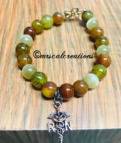 Earth Tone Nurse Bracelet