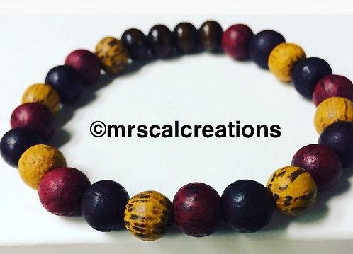 Multicolored Wood Bracelet
