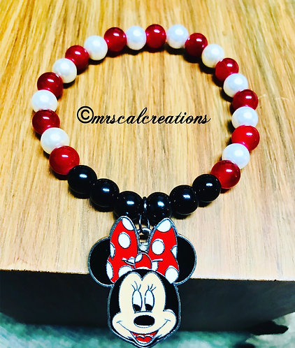 Minnie Mouse Inspired Bracelet