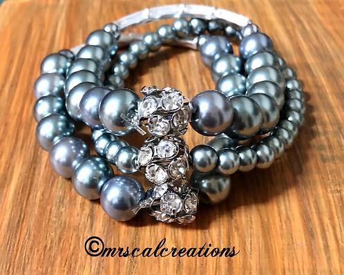 Silver Bells Stack Bracelets