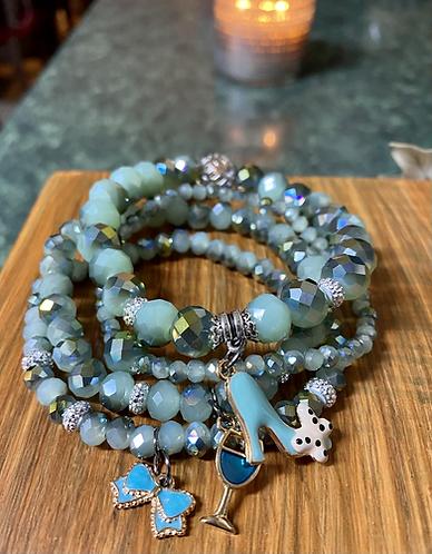 Mint Blue Stack Bracelets