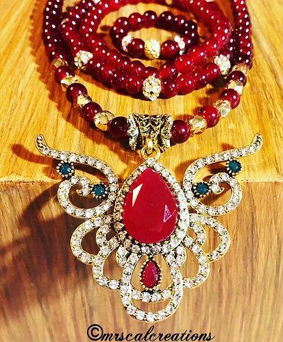 Necklace, Bracelet, Ring Jewelry Set