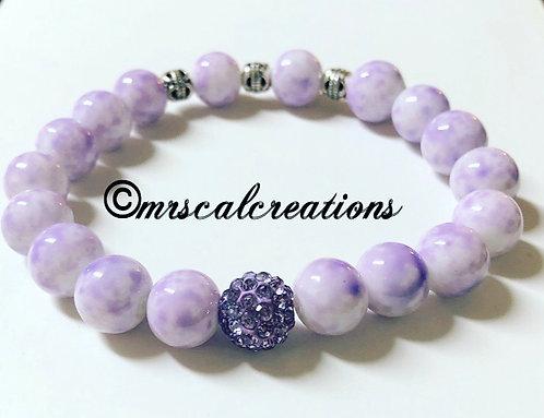 Lilac Rhinestone Bracelet