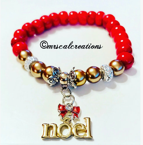 Red And Gold Noel Bracelet