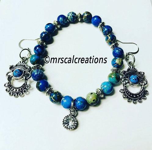 Blue Jasper Beaded Set