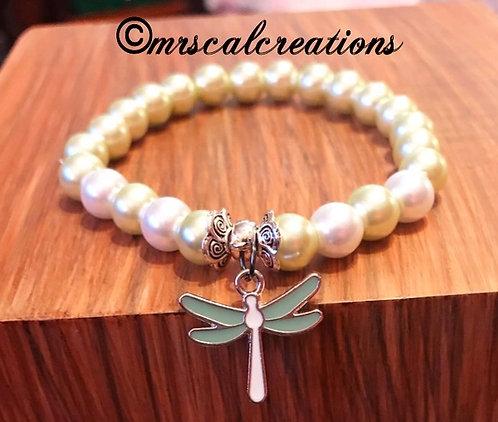 Pearl Dragonfly Bracelet