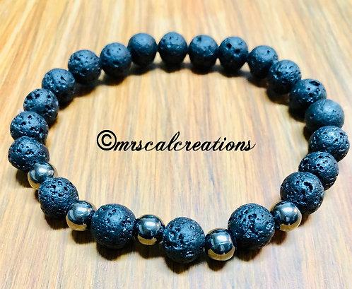 Black Lava Diffuser Bracelet