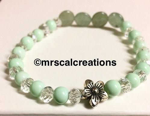 Mint/Flower Bracelet!