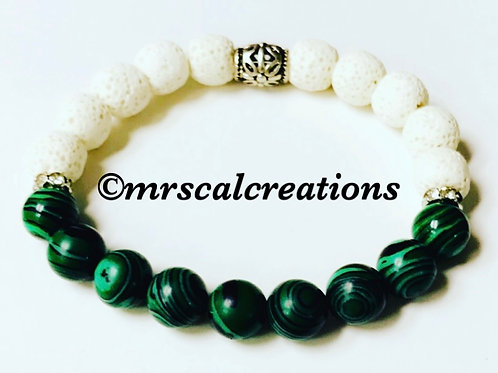 Green And White School Inspired Bracelet!