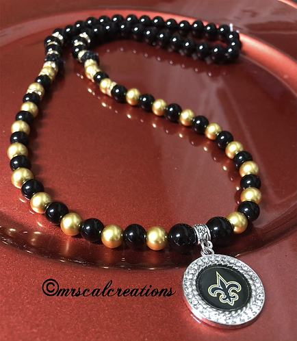 New Orleans Saints Inspired Necklace
