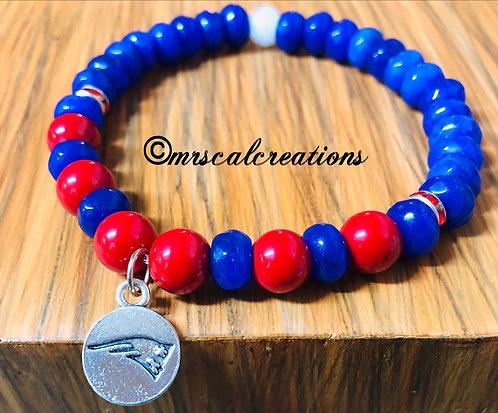 New England Patriots Inspired Bracelet