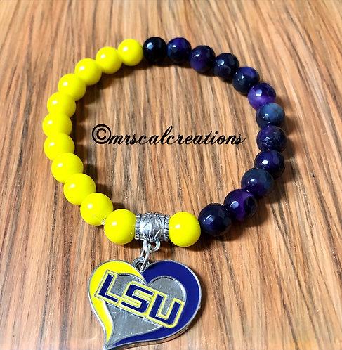 LSU Inspired Bracelet