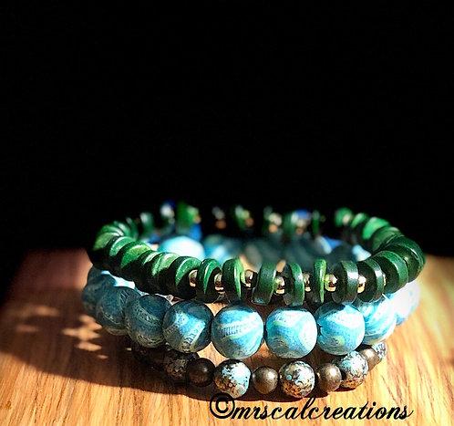 Bohemian Style Stack Bracelets
