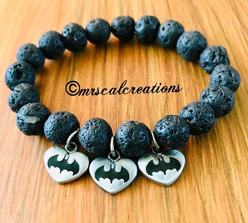 Batman Inspired Oil Diffuser Bracelet