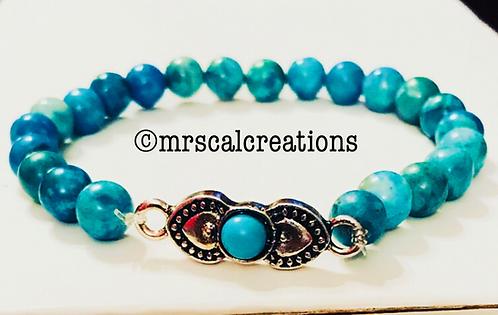 Aqua Blue Jasper Bracelet