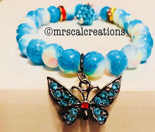 Cotton Candy Blue Butterfly Bracelet!