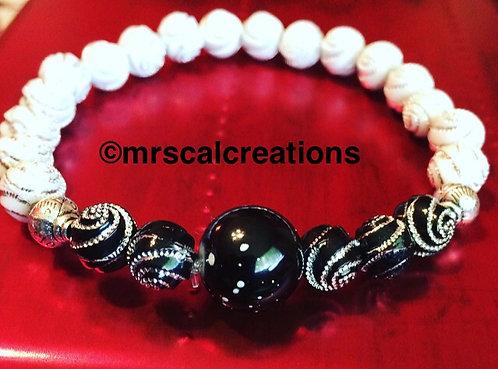 Black and White Beaded Bracelet!