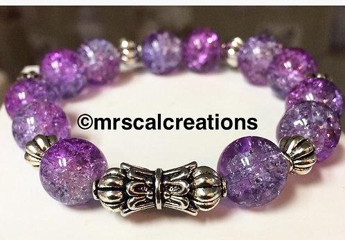 Purple Crystal beaded bracelet