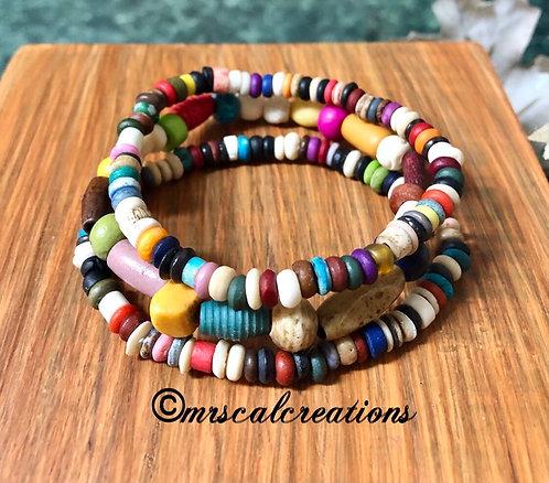 Colorful Bone Boho Stack Bracelets