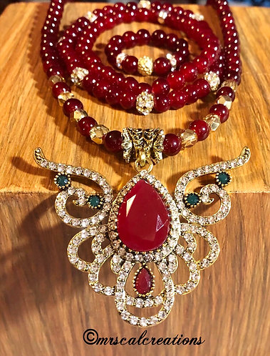 Red Angel Jewelry Set!