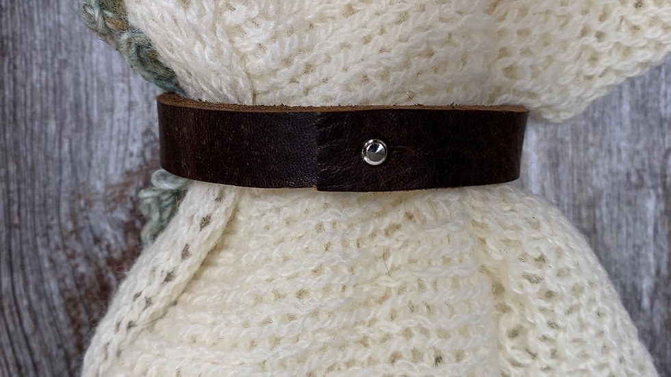 Leather Shawl Cuff - Brown Thin Push Pin
