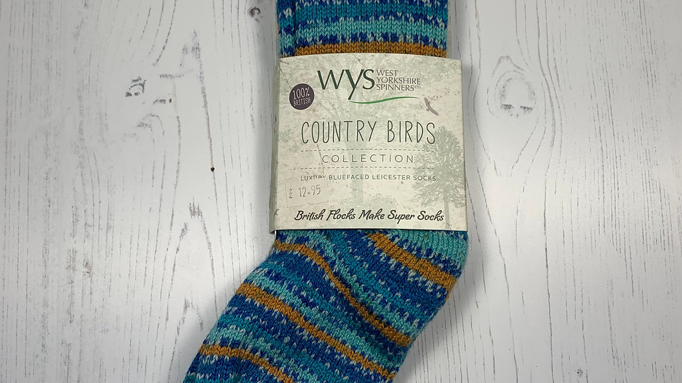 WYS Socks - Kingfisher - UK Size 3-5