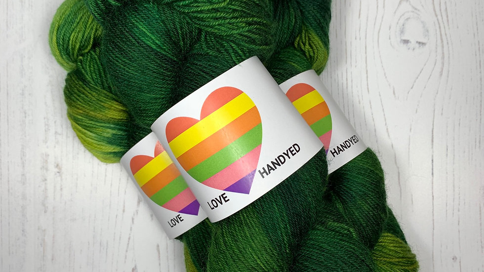 Smashed Fruit 100g Hand Dyed 4ply Yarn - Amorous Avocado