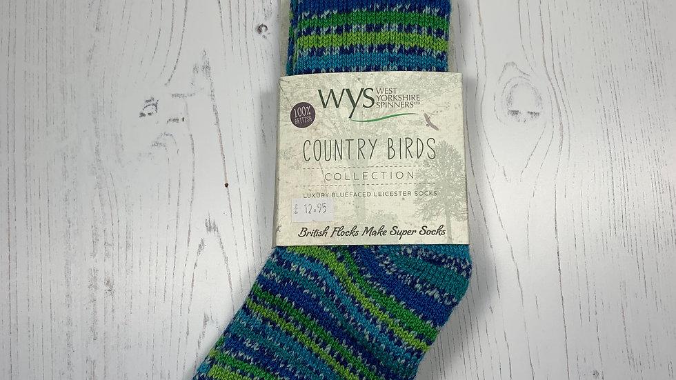 WYS Socks - Peacock - UK Size 3-5