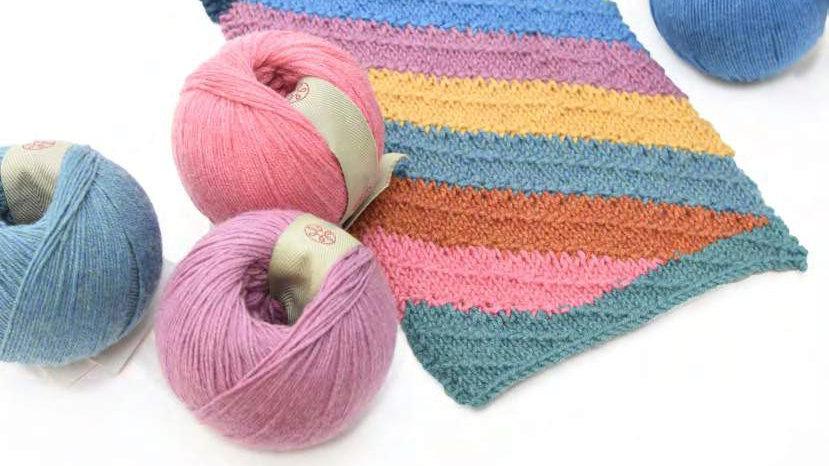 Glencoul Diagonal Seed Stitch Scarf PRISM Pattern