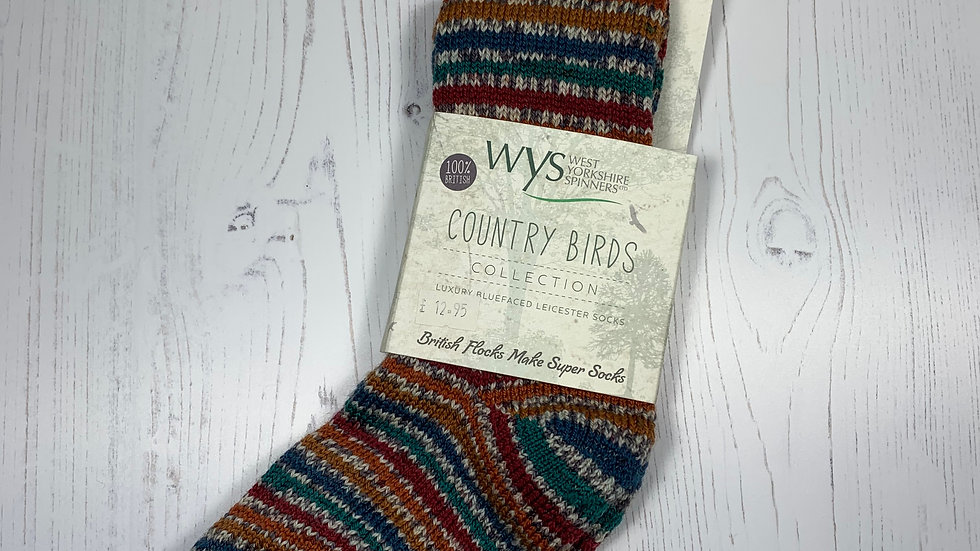 WYS Socks - Pheasant - UK Size 3-5