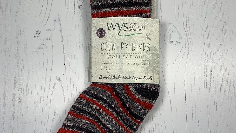 WYS Socks - Bullfinch - UK Size 3-5